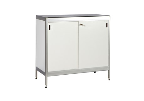 Lockable counter, white, H: 96 W: 98.5 D: 46.5 cm